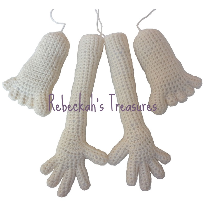 How To Make Amigurumi Doll Legs : Rebeckahs Blog - Rebeckahs Treasures