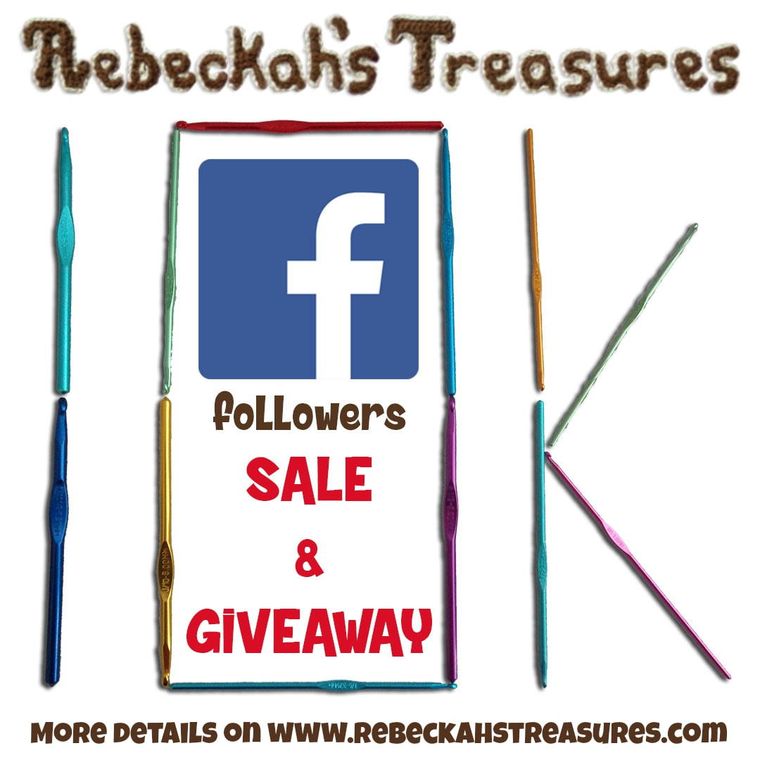 Celebrating 10k FB followers with a #free #crochet pattern #giveaway + #sale via @beckastreasures! Sale ends August 31, 2017 at 23:59 EST... Visit the blog for details!