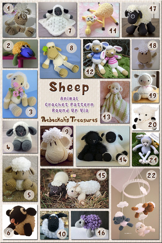 Sheep Part 1 Animal Crochet Pattern Round Up Rebeckahs Treasures