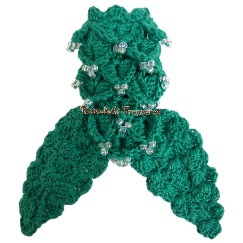 Kelly Crochet Mermaid Tail with Beads
