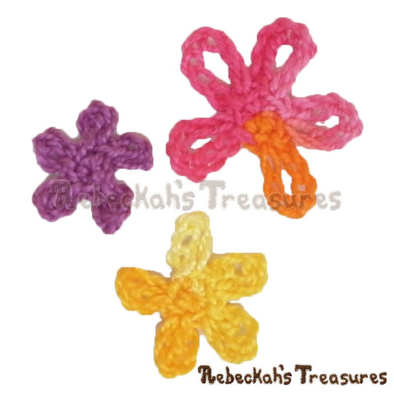 Sea Flower Motifs in 3 Sizes Free Crochet Patterns ...