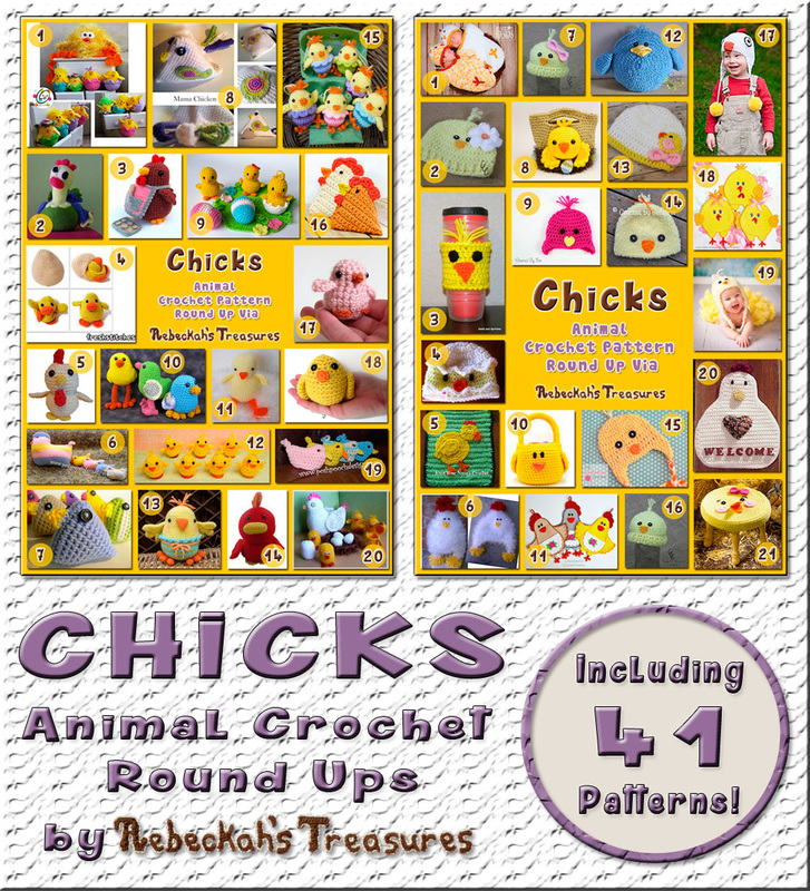 2 Chick Animal Crochet Pattern Round Ups by @beckastreasures | 41 patterns - 25 designers including @MojiMojiDesign @COTCCrochet @FreshStitches & more!
