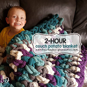 2 Hour Couch Potato Blanket - Free Crochet Pattern by @OombawkaDesign | Featured at Oombawka Design - Sponsor Spotlight Round Up via @beckastreasures | #fallintochristmas2016 #crochetcontest #spotlight #crochet #roundup