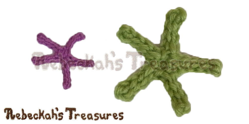 Large Starfish Motifs in cotton thread & sport yarn | FREE crochet patterns via @beckastreasures | Delightful appliqués for under the sea projects! #motif #crochet #starfish