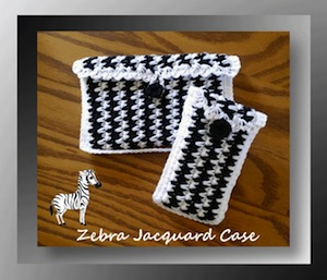 Zebra Jacquard Case by Cylinda of Crochet Memories - Featured project on Saturday Link Party 4 via @beckastreasures