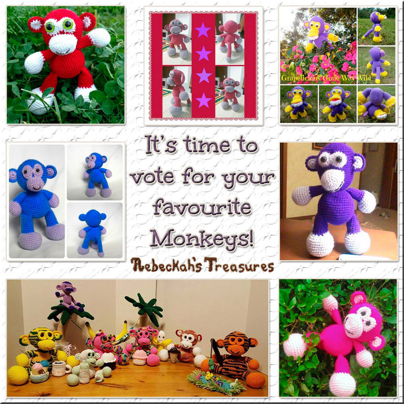 Vote for Your Favourite Amigurumi Grape Ape Monkey via @beckastreasures contest!