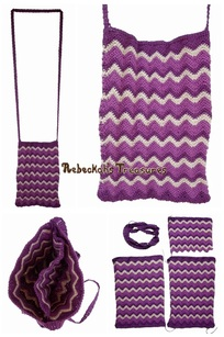 My Chevron Crochet Shoulder Bag