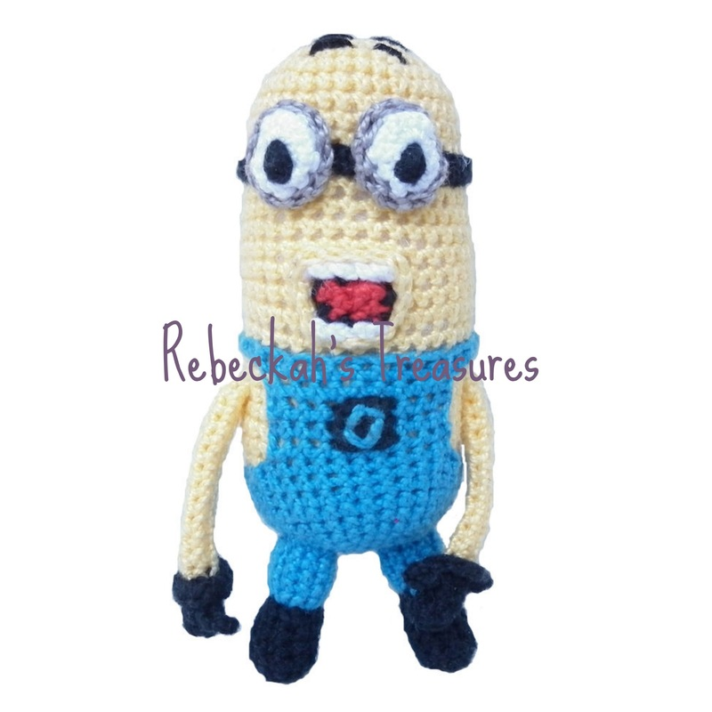 Crochet Mini Minion Army by Rebeckah's Treasures ~ Two Eyed Minion