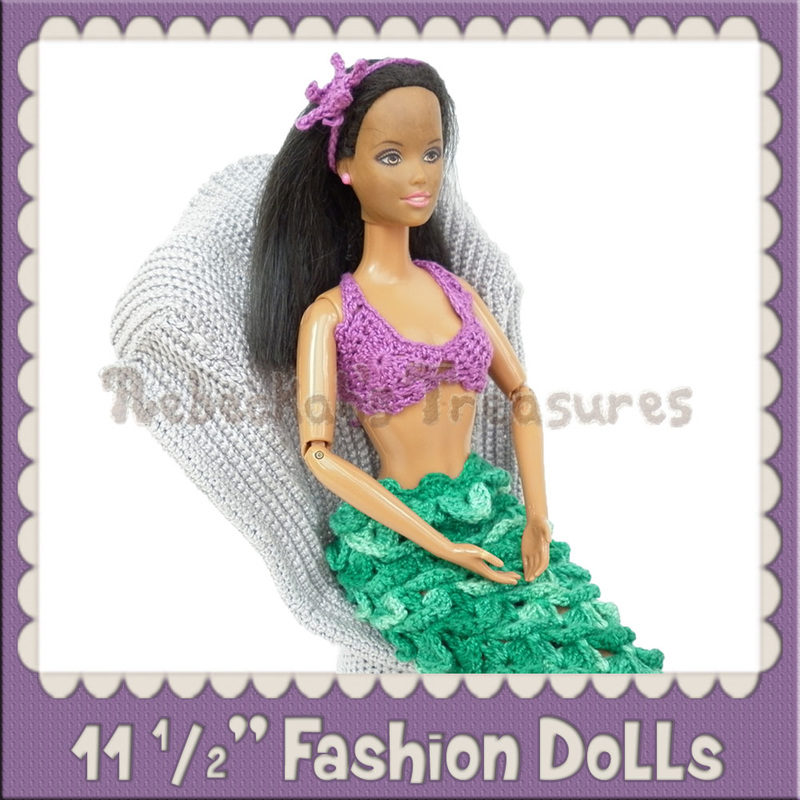 11 ½ inch Woman Fashion Doll Crochet Patterns by @beckastreasures