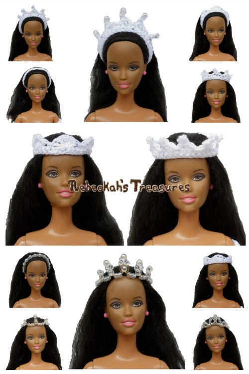 The Headpieces ~ Wedding Accessories for Fashion Dolls ~ Free Crochet Pattern & How-to