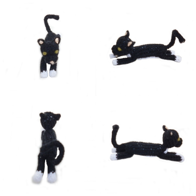 Rebeckah's Treasures: Boris Crochet Barbie Kitty Stretched Out