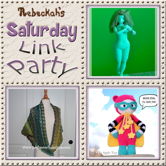 Share what you're making, increase your reach and have some fun with Rebeckah's 43rd Saturday Link Party with @beckastreasures | Featuring @PoshPoochDesign