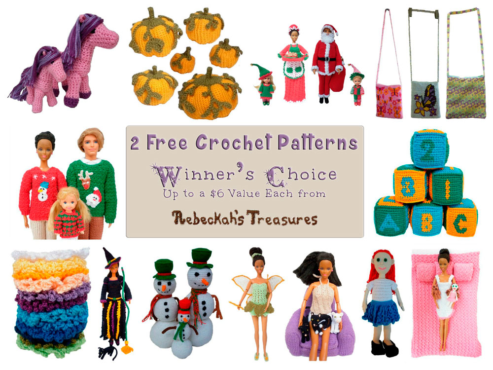 #WIN 2 FREE #crochet patterns from @beckastreasures via Home made hat's (@Sherrys2boyz) Giveaway!