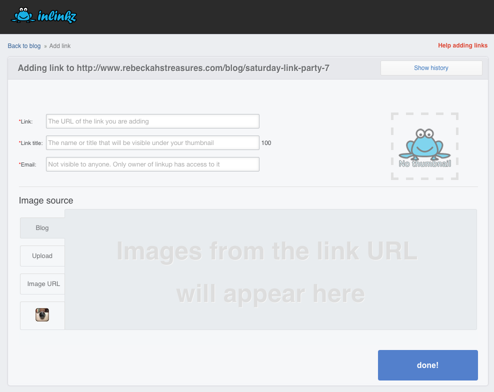 How to link up to a InLinkz blog link party tutorial via @beckastreasures