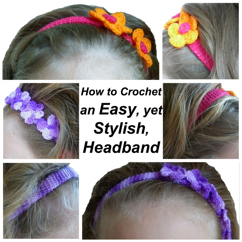 How to Crochet a Headband, Easy & Stylish - FREE crochet pattern by Rebeckah's Treasures via Yarn Obsession | #crochet #headband #howto