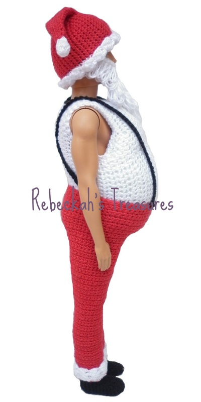 Crochet Santa Ken Claus Trousers by Rebeckah's Treasures