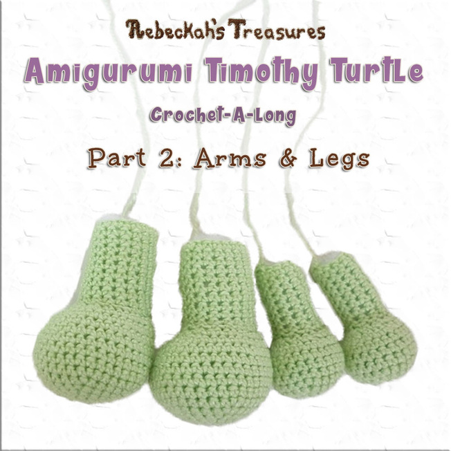 Timothy Turtle Crochet-A-Long Part 2: Arms & Legs via @beckastreasures / Join in the fun as we start crocheting this adorable amigurumi turtle!