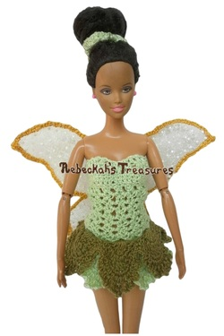 Fairy Fashion Doll Outfit Inspired by Tinkerbell