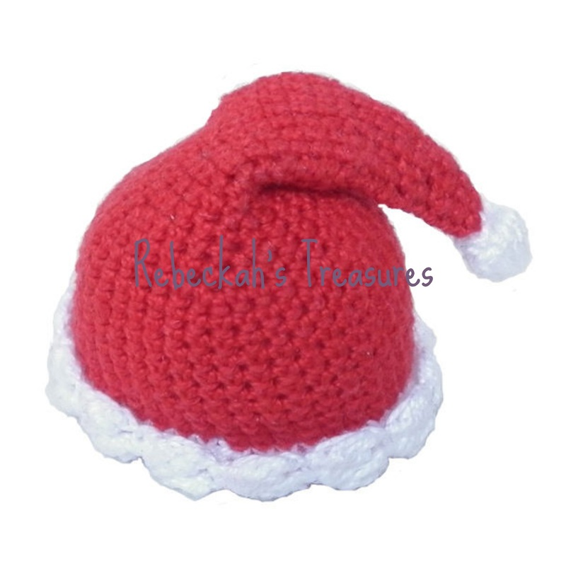 Crochet Santa Ken Claus Hat by Rebeckah's Treasures