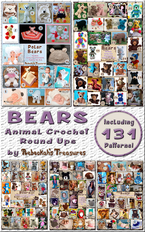 5 Bear Animal Crochet Pattern Round Ups by @beckastreasures | 131 patterns - 51 designers including @FreshStitches @cutecrochet @melissaspattrns & more!
