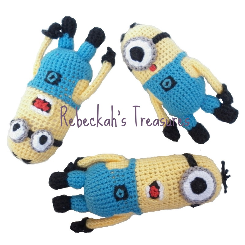 Crochet Mini Minion Army by Rebeckah's Treasures