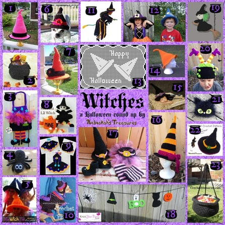 Witches Crochet Round Up