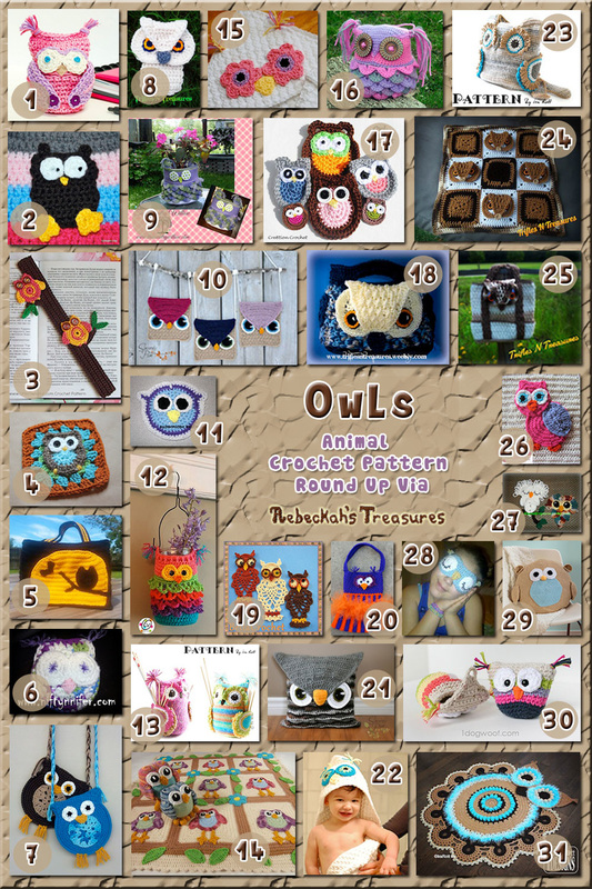 31 Magnificent Owl Accessories including appliqués, pillows, purses & more – via @beckastreasures with @TriflsNTreasurs | 3 Owl Animal Crochet Pattern Round Ups!