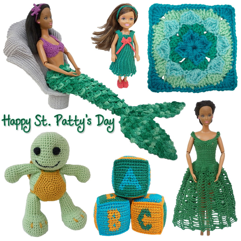 Happy St. Patty's Day 2016! Here's my green crochet projects from the last year...