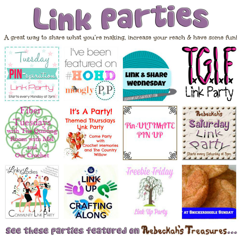 Your favourite link parties are here at @beckastreasures...