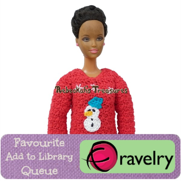 Favourite, Add to Library & Queue Mom's Fashion Doll Christmas Sweater on Ravelry http://www.ravelry.com/patterns/library/moms-fashion-doll-christmas-sweaters-crochet-pattern