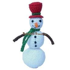 Rebeckah's Treasures' Crochet Little Snowman Free Pattern