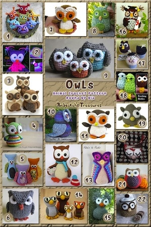 Owls Part 1 - Animal Crochet Pattern Round Up | 10 MOST Viewed Posts of ALL TIME - 2016 Edition by @beckastreasures