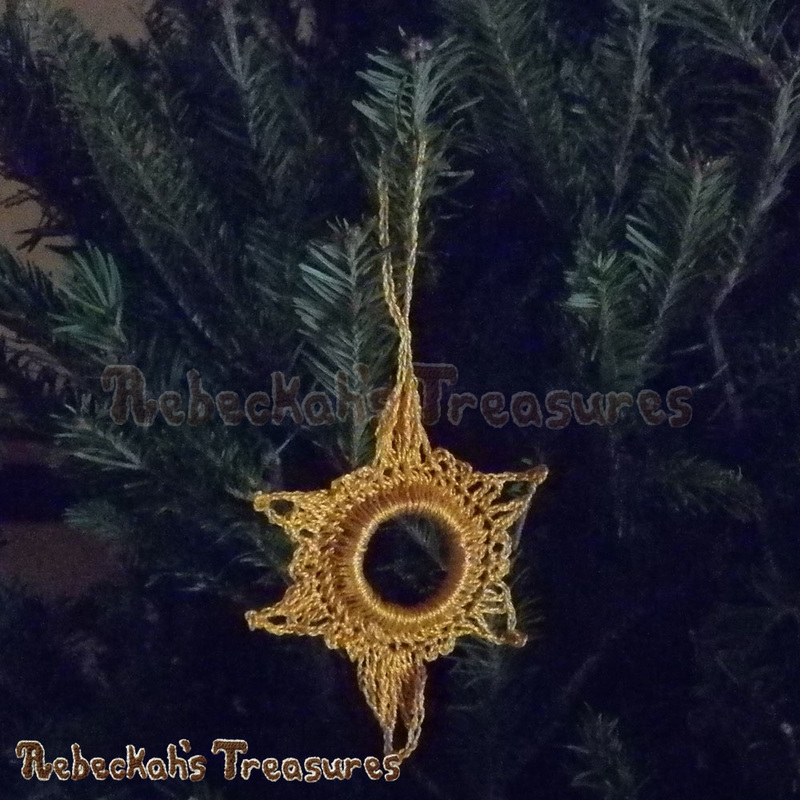 Follow His Star Ornament | FREE Christmas crochet pattern by @beckastreasures