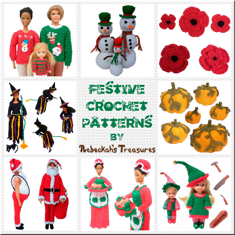 Festive Crochet Patterns by @beckastreasures