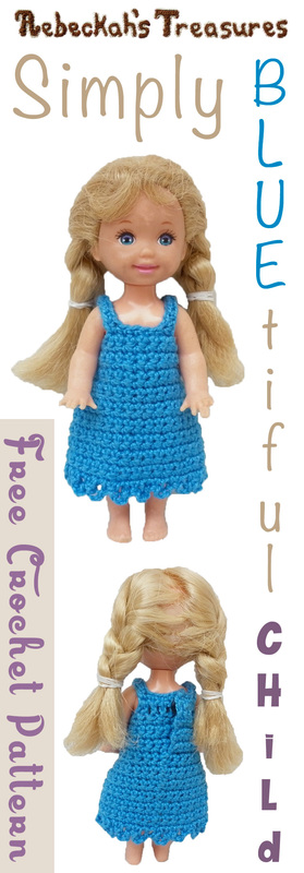 Simply BLUEtiful Child Fashion Doll Dress / Free Crochet Pattern by @beckastreasures