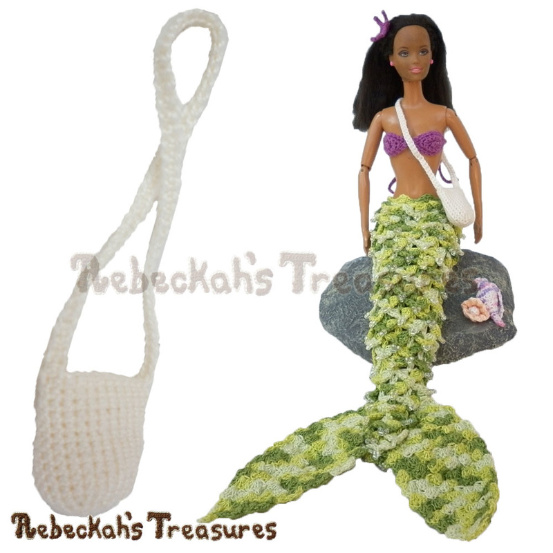 Fashion doll mermaid treasure bag by @beckastreasures | Because every mermaid deserves a great adventure!