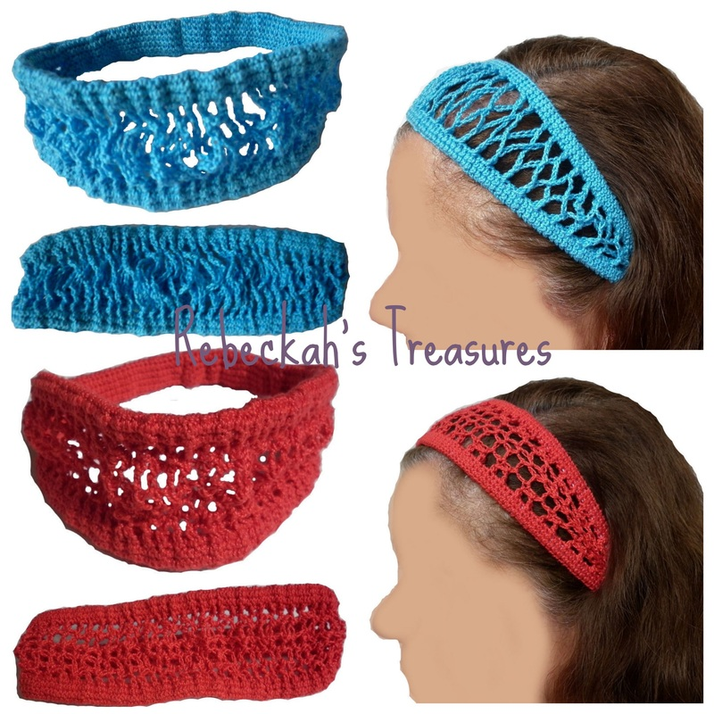 Crochet Headbands by Rebeckah's Treasures