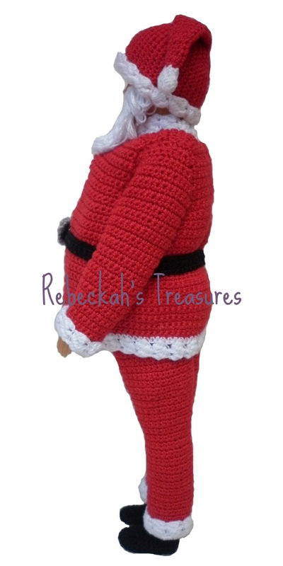 Crochet Santa Ken Claus by Rebeckah's Treasures