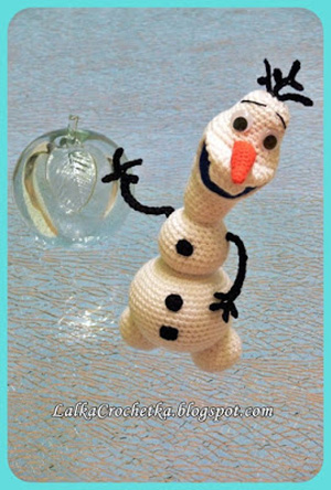 Snowman Olaf | Bałwanek Olaf by Lalka Crochet - Featured on @beckastreasures Saturday Link Party!