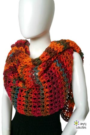 Coraline in Rio Mini Wrap by Celina of Simply Collectible Crochet | Featured on @beckastreasures Saturday Link Party!