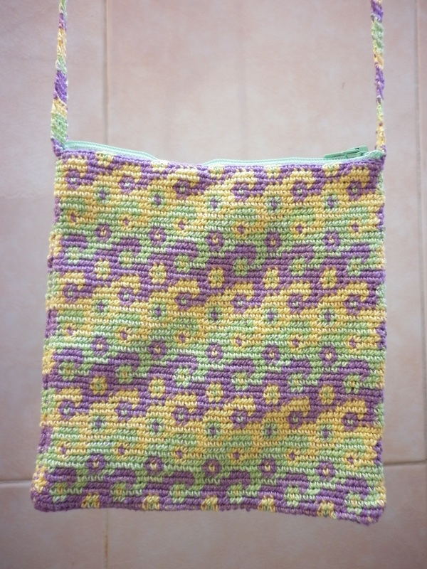 Tapestry Crochet Shoulder Bag Swirls