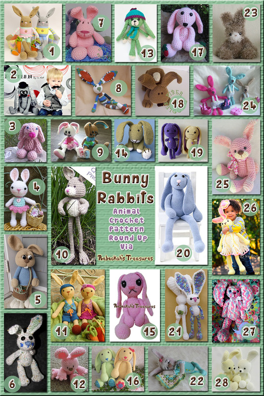 28 Snuggly, Floppy Bunny Rabbit Toys – via @beckastreasures with @melissaspattrns | 11 Easter Animal Crochet Pattern Round Ups!