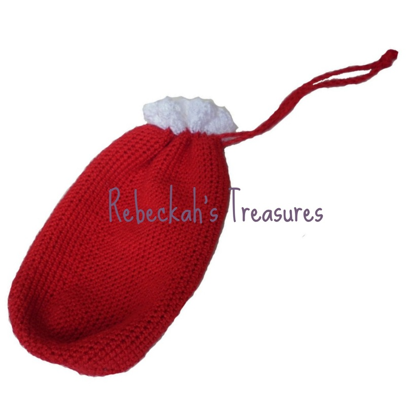 Crochet Santa Ken Claus Toy Sack by Rebeckah's Treasures