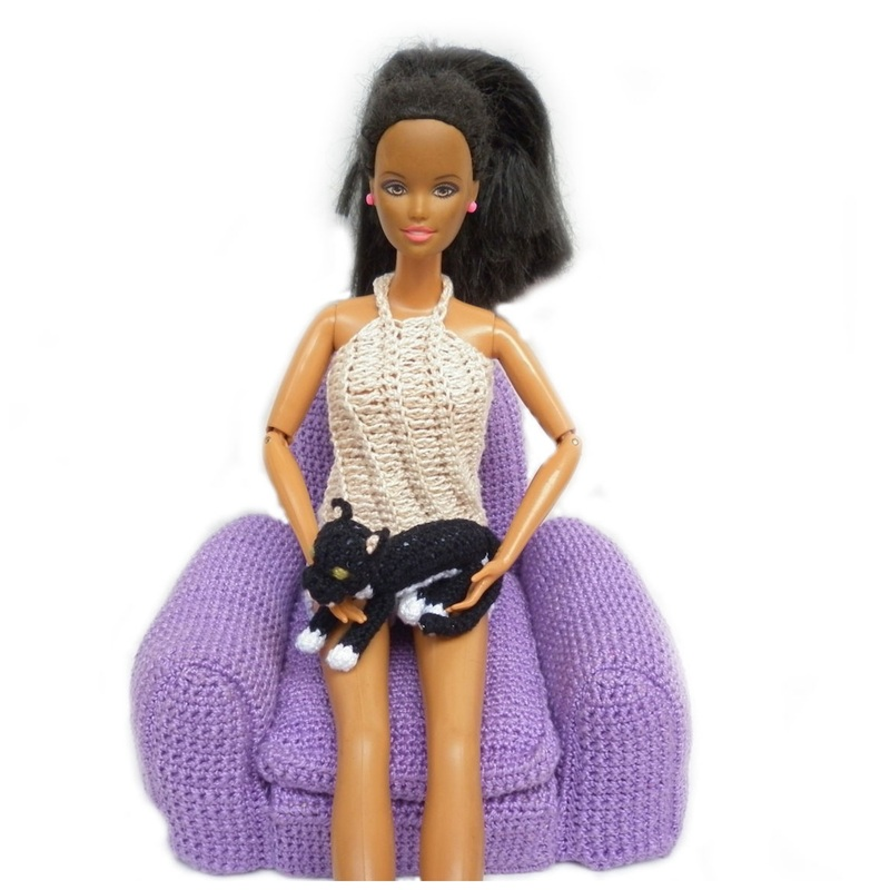 Rebeckah's Treasures': Barbie with Boris Crochet Kitty