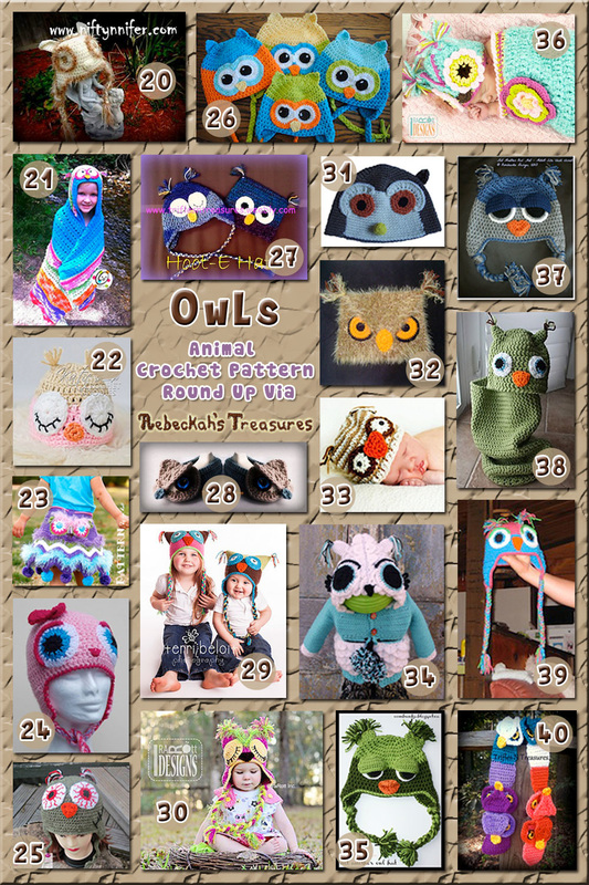 40 Outlandish Owl Attire including hats, props & more - Part B – via @beckastreasures with @OombawkaDesign | 3 Owl Animal Crochet Pattern Round Ups!