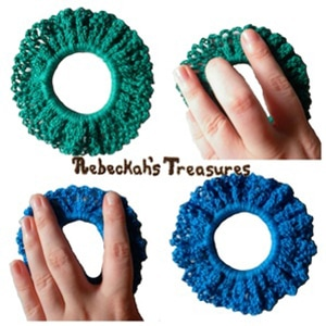 Easy Crochet Scrunchy | 10 MOST Viewed Posts of ALL TIME - 2016 Edition by @beckastreasures