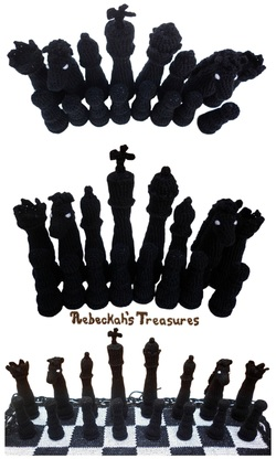 Crochet Chess Pieces
