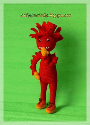 Fiery doll ... Lalka Ognik by Lalka Crochetka | Featured on @beckastreasures Saturday Link Party!
