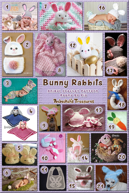 21 Cute Bunny Rabbit Babies & Pets – via @beckastreasures with @PoshPoochDesign | 11 Easter Animal Crochet Pattern Round Ups!
