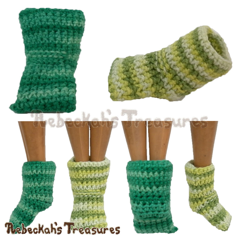Mermaid Sock by @beckastreasures | Keep the doll's feet from poking out and dress her with ease!